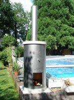 Aquastove Poolheizung mit Holz