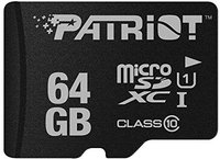 Patriot microSDXC 64GB Class 10 UHS-I LX Signature Flash (PSF64GMCSDXC10)