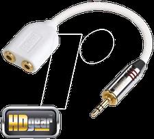 HDgear AC0130-0015 Premium Audio Splitter Stereo (0,15m)