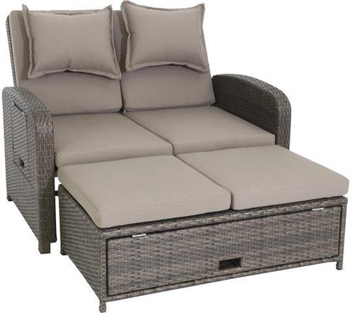 testrut bahia loungesofa 2 sitzer polyrattan g nstig. Black Bedroom Furniture Sets. Home Design Ideas