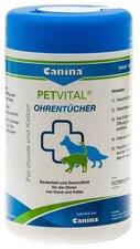 Canina Petvital Feuchttuecher f. Ohren (120 Stk.)