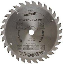 Wolfcraft HM-Sägeblatt 190 X 16 mm Serie grün (6375000)