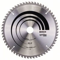 Bosch Optiline Wood Kreissägeblatt 254 x 30 x 2,0 mm WZ/N 60 (2 608 640 436)