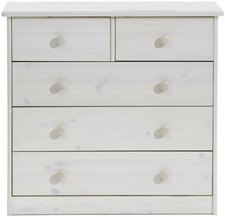 Steens Furniture Ltd Mario 012/13 Kommode whitewash 2+3 Schubladen