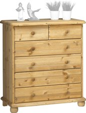 Steens Furniture Ltd 20221330 Kommode Max 93 x 83 x 40 cm Kiefer massiv gelaugt geölt