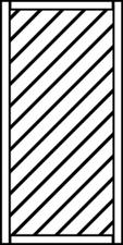 Osmo Skagen Sichtblende 89 x 178 cm Kiefer geschlossen