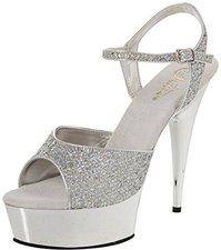 Pleaser Delight 609 glitter-silver/silver-chrom