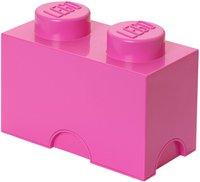 LEGO Aufbewahrungs-Box 1 x 2 (pink)