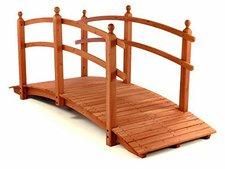 Dilego Holzbrücke mit Geländer rot-braun (groß)
