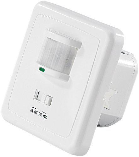 revolt automatischer lichtschalter mit bewegungsmelder sound sensor preisvergleich ab 9 90. Black Bedroom Furniture Sets. Home Design Ideas