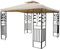 Grasekamp Pavillon Blätter 3 x 3 m sand/beige