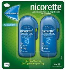 Johnson & Johnson Nicorette freshmint 2 mg Lutschtabletten (80 Stk.)