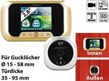 Somikon Digitale Türspion-Kamera mit Bewegungserkennung