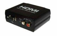 Ligawo 6516502 VGA zu HDMI Konverter 1:1 aktiv + Cinch Audio