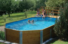 weka Korfu II Pool Sparset mit Sandfilteranlage 850 x 376 x 116 cm