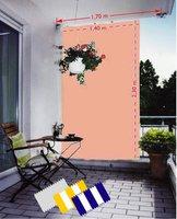 Peddy Shield Senkrecht-Sonnensegel terracotta
