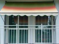 Angerer Klemm-Markise (250 x 150 cm) rot-gelb-grün
