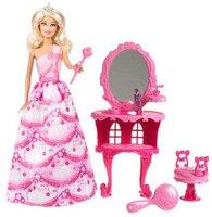 Mattel Barbie Prinzessin und Kosmetiktisch