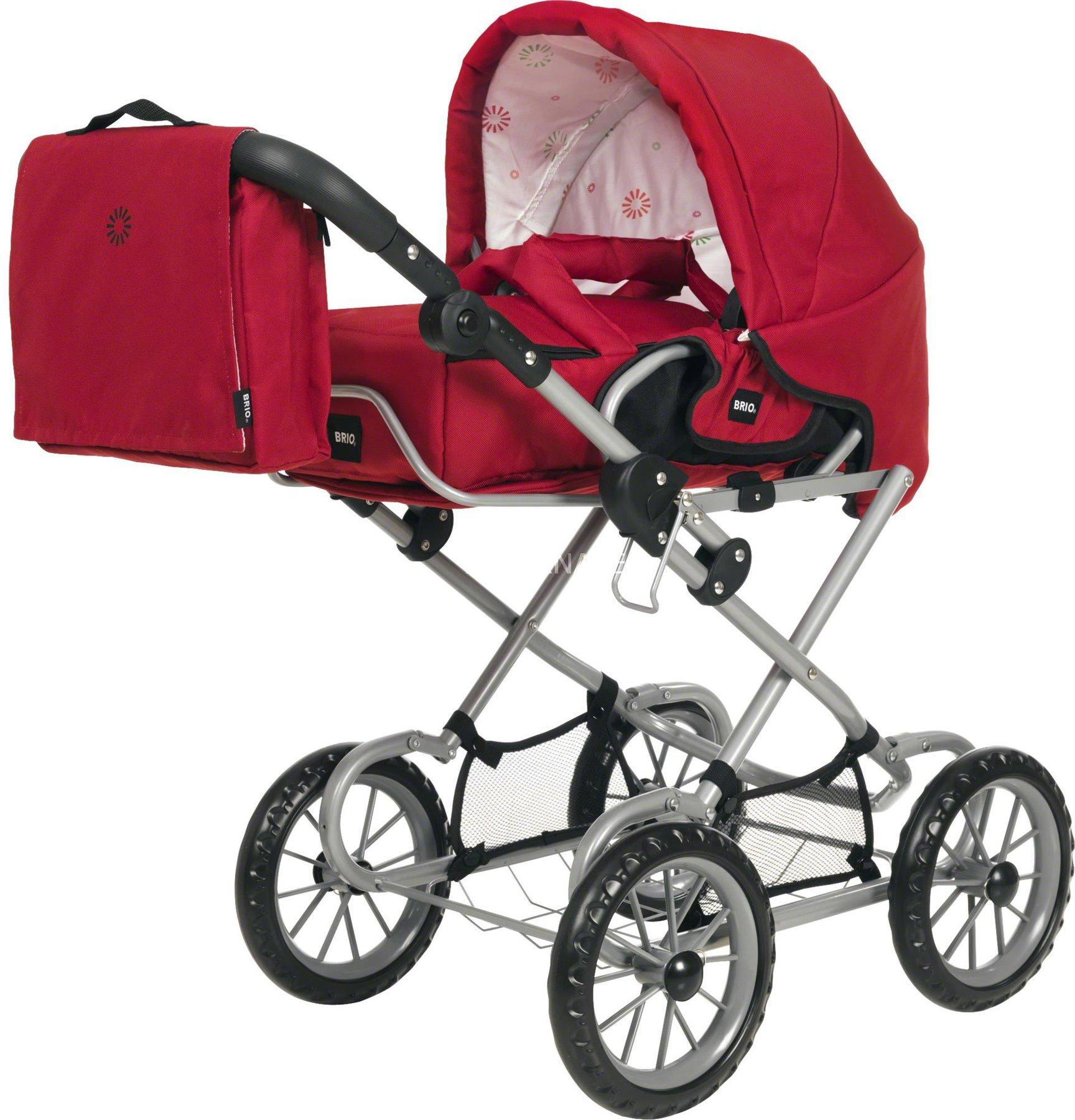 Brio 24891359 BRIO Puppenwagen Combi grau mit Punkten Babypuppen & Zubehör