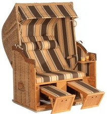 SONNENPARTNER Classic Strandkorb Halbliegemodell (Dessin 144)