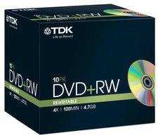 TDK DVD+RW 4,7GB 120min 4x 10er Slimcase
