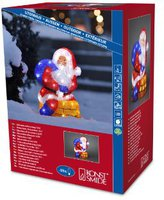 Konstsmide LED Acryl Weihnachtsmann mit Schornstein