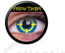 ColourVue Funny Lens Yellow Target (2 Stk.)