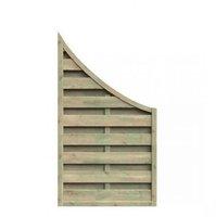 Delta Gartenholz Dichtzaun Abschlusszaun mit Tiefbogen BxH: 90 x 160/90 cm