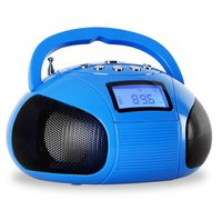OneConcept Bamboombox Mini-Radio blau
