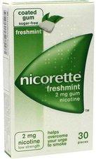 EMRA-MED Nicorette 2 mg Freshmint Kaugummi (30 Stk.)