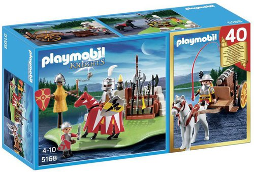 Playmobil Knights - Jubiläums-Kompaktset Ritterturnier und Kanonenwagen (5168)