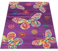 PHC Teppich Schmetterling - türkis