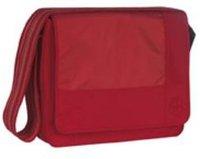 Lässig Wickeltasche Messenger Bag Patchwork Rot