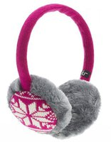 Kitsound Audio Earmuffs (Pink Fairisle)