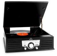 Auna TT-92B Record Player Turntable USB SD AUX FM schwarz
