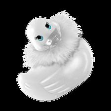 Big Teaze Toys I rub my duckie Paris white mini