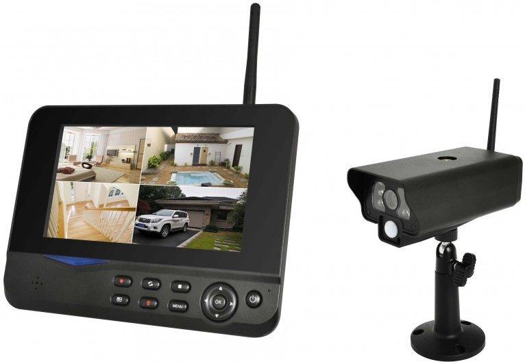comag digitales kamera berwachungsset mit 4 kameras. Black Bedroom Furniture Sets. Home Design Ideas