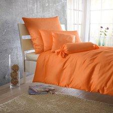 BettwarenShop Mako-Satin Bettwäsche orange (220 x 240 cm)