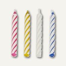 Papstar Geburtstagskerzen 6 cm farbig sortiert 12x144