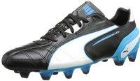 Puma King FG black/white/fluo blue