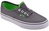 Vans Junior Authentic charcoal gray/green flash