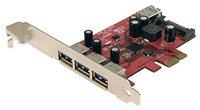 StarTech.com 4 Port PCI Express USB 3.0 SuperSpeed Schnittstellenkarte mit UASP - SATA Power (PEXUSB3S4)