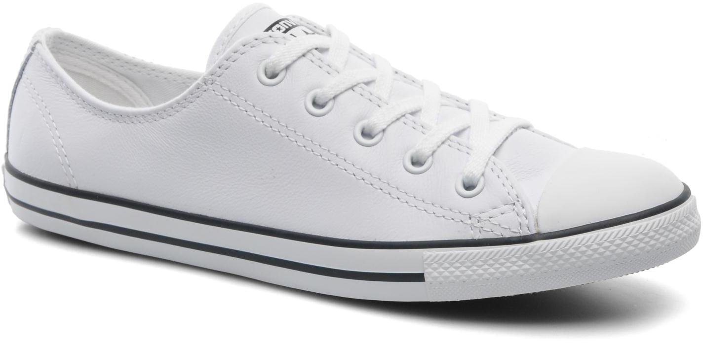 d696a591e1134c Converse Chuck Taylor All Star Dainty Leather Ox - white (537108C) günstig