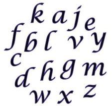 Fmm Sugarcraft Alphabet Cutter Set Script Kleine Buchstaben
