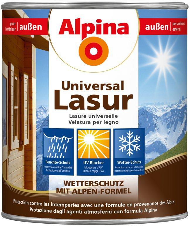 alpina farben universal lasur 2 5 l preisvergleich ab 14 92. Black Bedroom Furniture Sets. Home Design Ideas