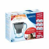 BRITA Marella Cool Wasserfilter graphit + 6 Kartuschen
