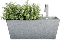 Esschert Balkonkasten grau Metall