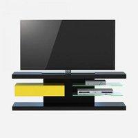 Jahnke SL 660 LED TV-Rack (86VW50) schwarz / gelb