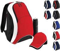 Bagbase Teamwear Backpack classic red/black/white