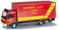 """Herpa Mercedes-Benz Atego Koffer-LKW mit Ladebordwand  """"Feuerwehr Wuppertal, GW Logistik """" (091435)"""